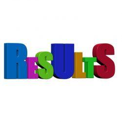 Een afbeelding met de tekst: results erop.