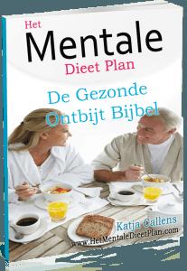 Ebook cover van het populaire afvalboek de gezonde ontbijt bijbel